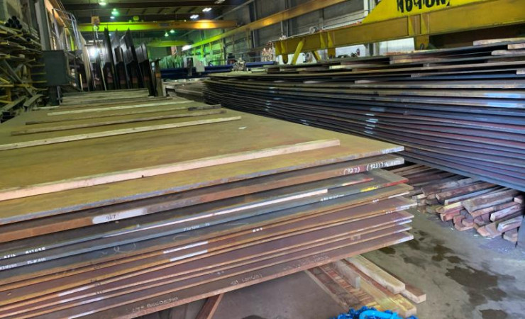"We have light gauge steel all the way up to 8"" thick."